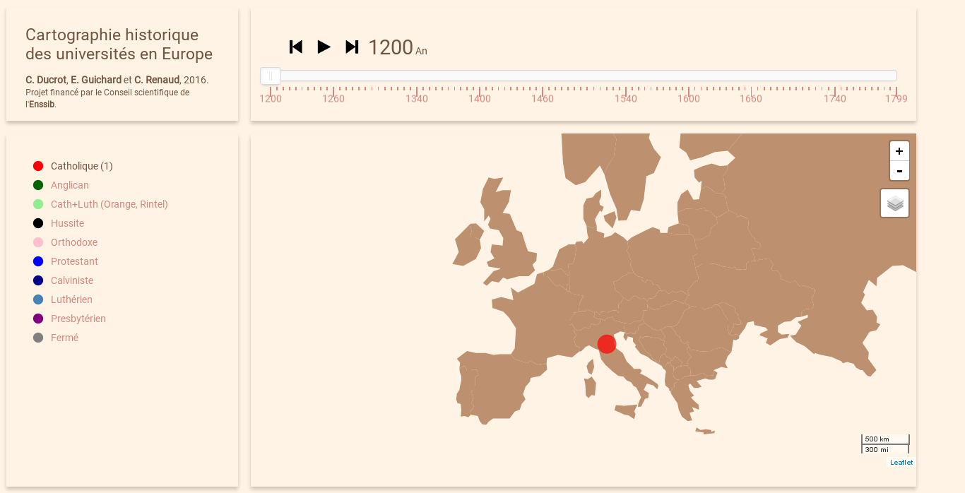 Attempt to map spread of universities over Europe during the last centuries. [clementrenaud.com/carto-univ](https://clementrenaud.com/carto-univ)